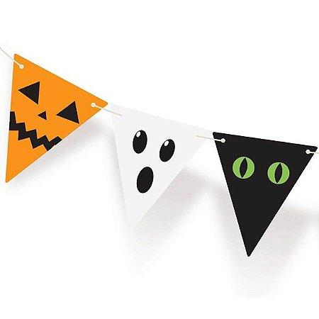 Faixa Decorativa Bandeirinhas Halloween