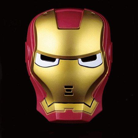 Máscara Iron Man Com Led Azul