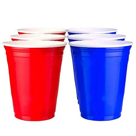 200 Unidades de Red e Blue Cups Variados | 400ml
