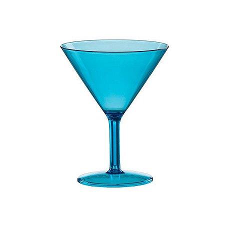 Taça Plástica Champagne Azul