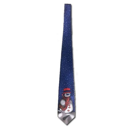 Gravata Azul Boneco de Neve