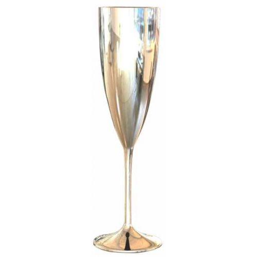 Taça de Champanhe Acrílica Prime Luxo Unitária | Prata