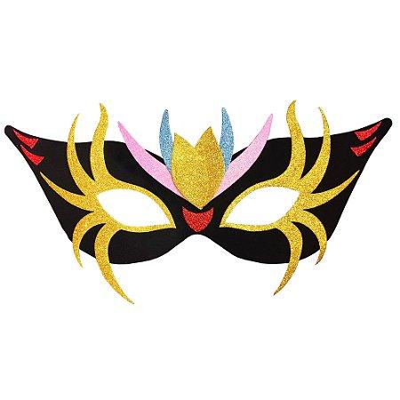 Painel Decorativo Máscara de Carnaval Preto | EVA