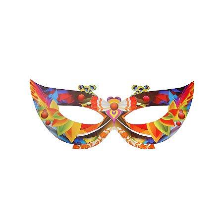Enfeite Máscara Gigante de Carnaval Laranja