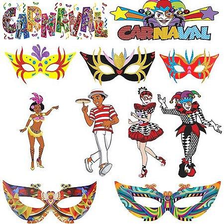 Kit Carnaval Decoração C/13 Itens