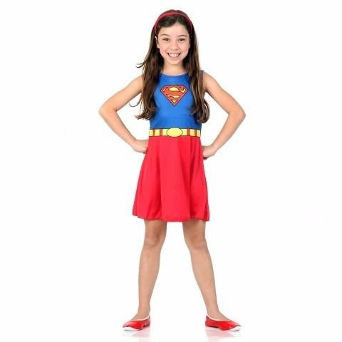 Fantasia Super Mulher Infantil Super Pop | Sulamericana