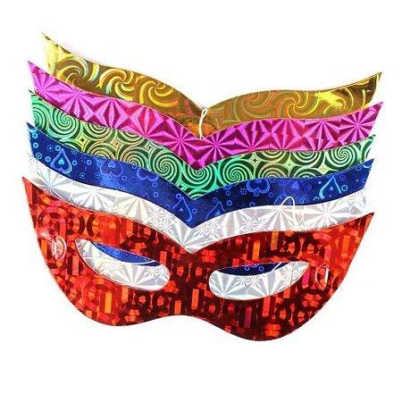 Kit Máscara Holográfica C/100 | Cores Sortidas
