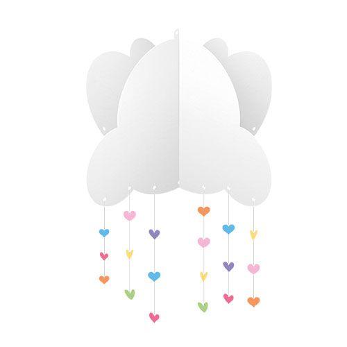 Kit Decorativo 3D Chuva de Amor C/12 Peças