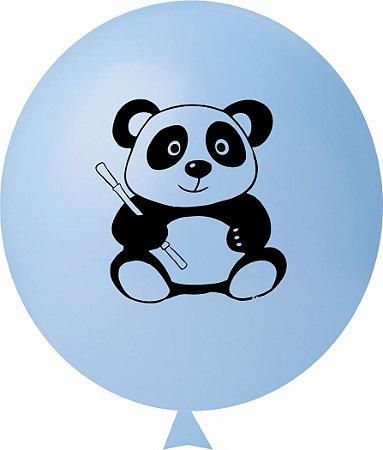Balão / Bexiga N11 Urso Panda Azul Claro C/25