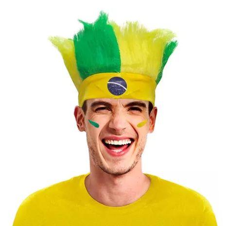 Bandana Brasil com Cabelo Arrepiado