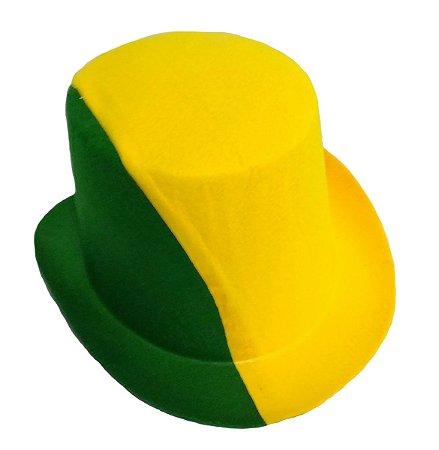 Cartola em Feltro Brasil | Verde e Amarelo