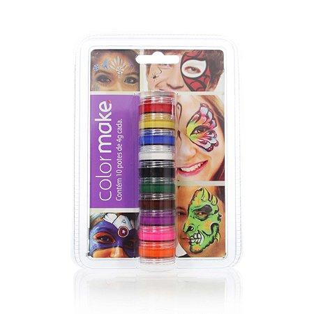 Tinta Cremosa C/10   Cores Sortidas   Color Make
