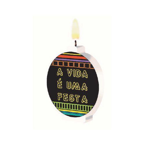Vela Plana Festa Neon | Junco