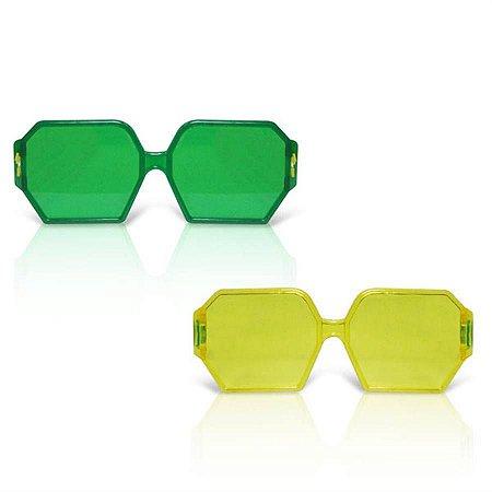 Óculos Brasil Quadrado C/12 | Copa do Mundo