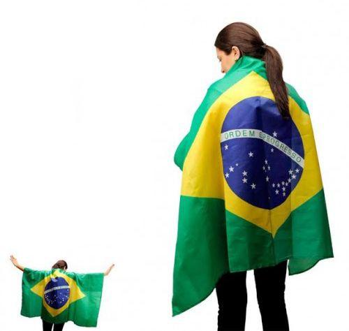 Fantasia da Copa | Bandeira Brasil P/ Vestir