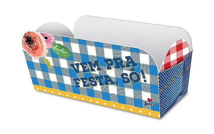 Caixa Para Cachorro Quente Festa Junina C/8 | Junco