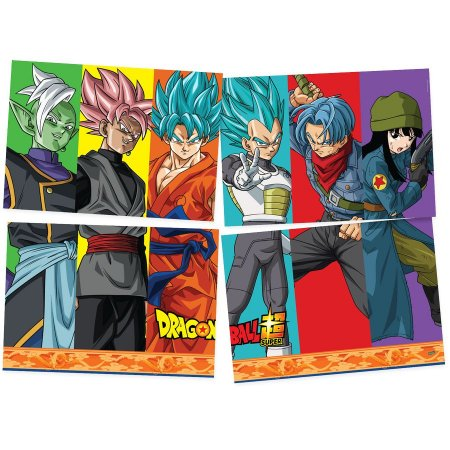 Painel Decorativo 4 Partes Dragon Ball