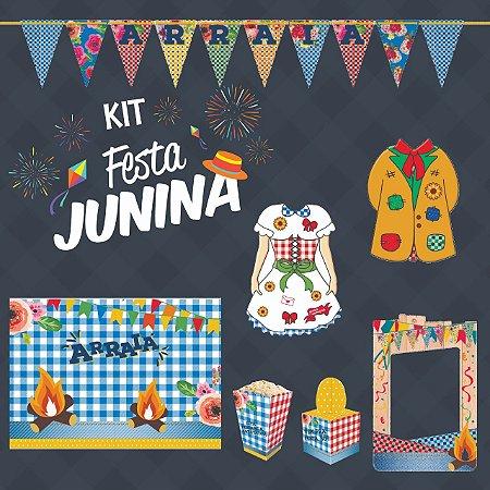 Kit Festa Junina Junco Para 48 Pessoas | C/666 Itens