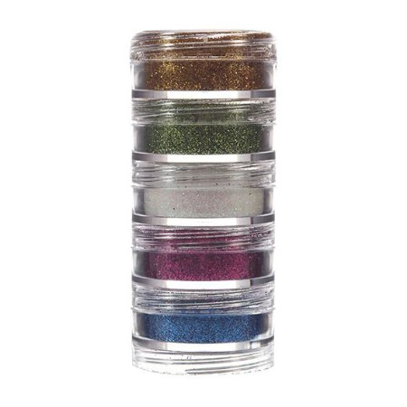 Kit Maquiagem Glitter Em Pó C/5   Color Make