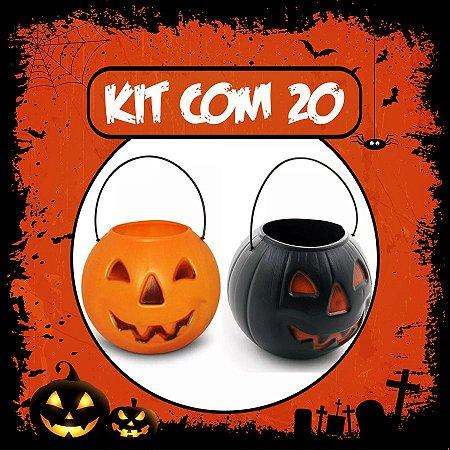 Balde Abóbora Halloween Pequeno | Kit Misto C/20