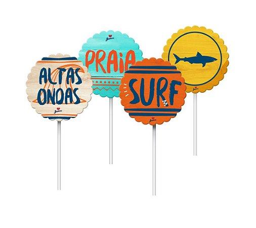 Topper/Pick Para Doces Surf C/8 | Junco