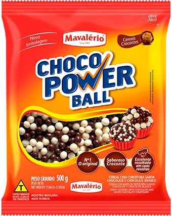 Cereal Choco Power Ball Mini Ao Leite e Branco | 500g