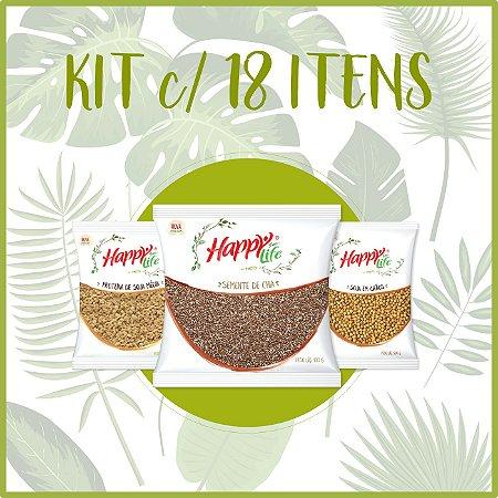 Kit Happy Life Produtos Naturais C/18 Itens