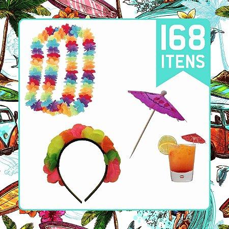 Kit Festa Havaiana Para 24 pessoas | C/168 Itens