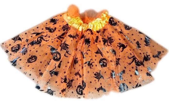 Saia Tule Infantil Halloween   30cm