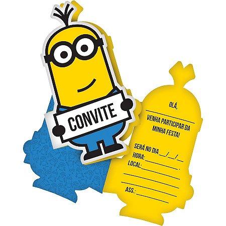 Convite Minions C/8