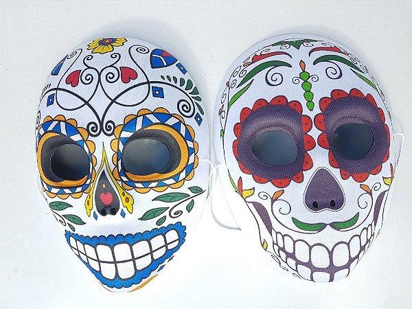 Máscara de Plástico Caveira Mexicana