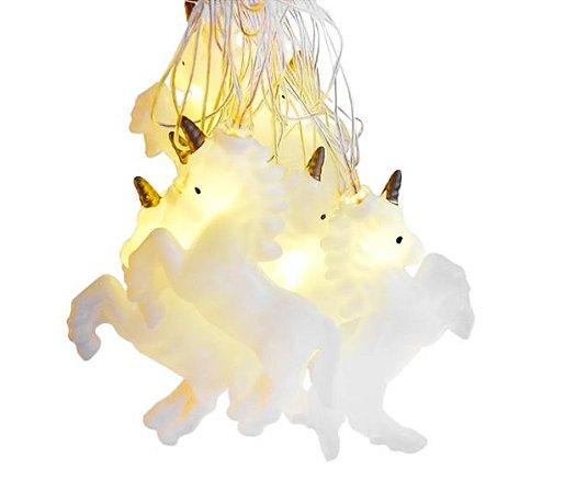 Cordão Luminária Decorativa LED Unicórnio 2m