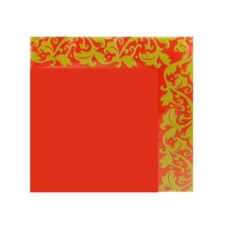 Guardanapo Decorado Vermelho 3 Folhas C/20