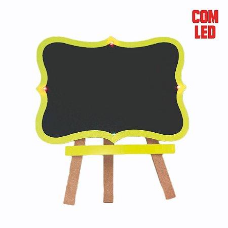 Cavalete Lousa Provençal C/ LED Amarelo Neon