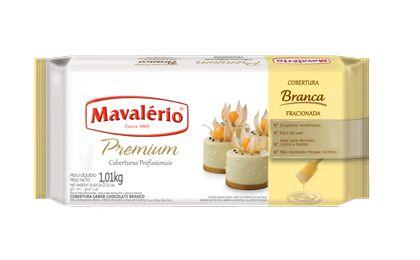 Barra Chocolate Cobertura Fracionada Branco 1,01kg | Kit C/4