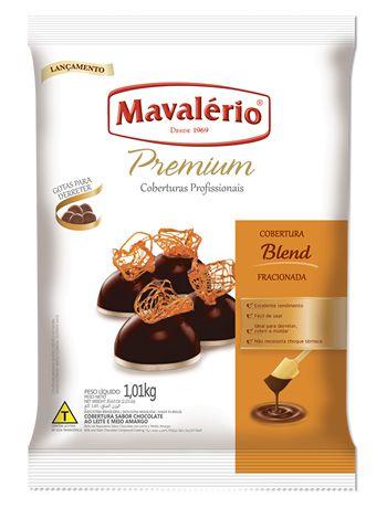 Gotas de Chocolate Blend Cobertura Fracionada 1kg | Kit C/4