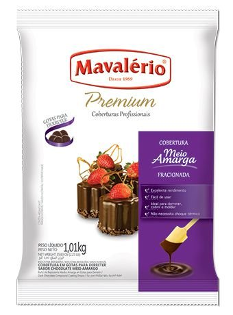 Gotas de Chocolate Meio Amargo Cobertura Fracionada 1kg C/4