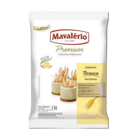 Gotas de Chocolate Branco Cobertura Fracionada 1kg   Kit C/4