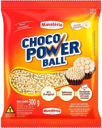 Choco Power Ball Micro Branco 300Gr | Mavalério