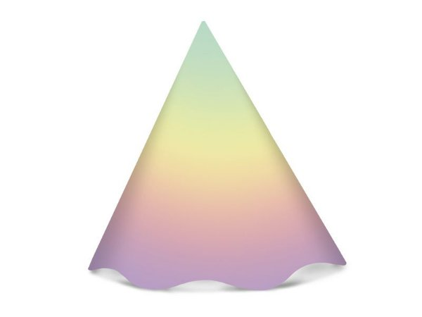 Chapéu de Aniversário Ombre Arco Íris C/8 | Regina