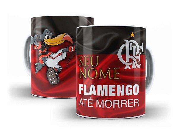 Caneca Porcelana - Futebol - Flamengo - c  seu Nome - LOJINHA SÃO ... 459d739f34c65
