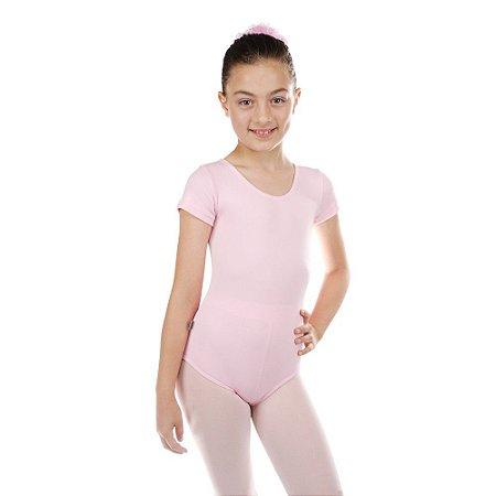 81ddd9bf7b Collant Manga Curta em Helanca Infantil - Corpus Artigos de Dança