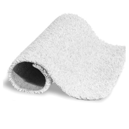 Grama sintética 12mm branco largura 2m