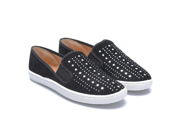 SLIPPER PRETO BRILHO