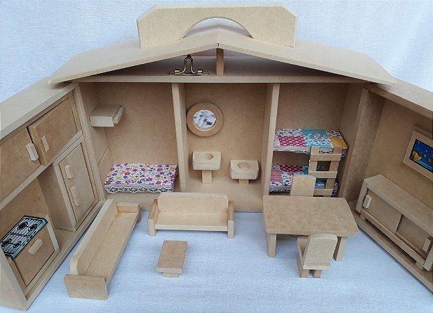 Casinha de Bonecas Maleta (Abre e Fecha)