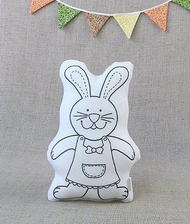 Almofada Pinte e Lave - Coelha da Páscoa