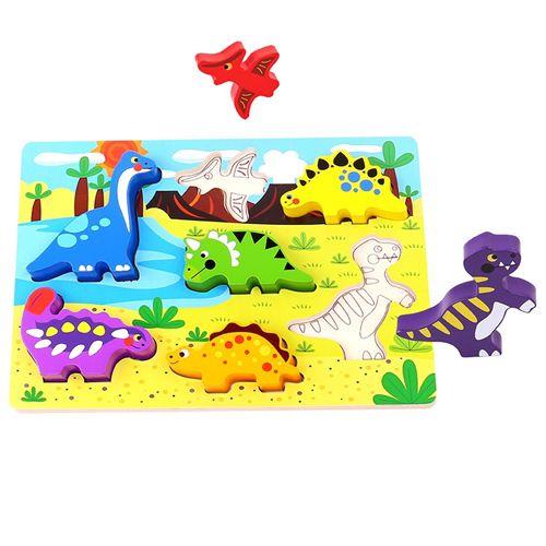 Tabuleiro de Encaixe Dinossauros