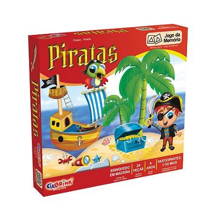 Jogo da Memória Piratas - 24 peças