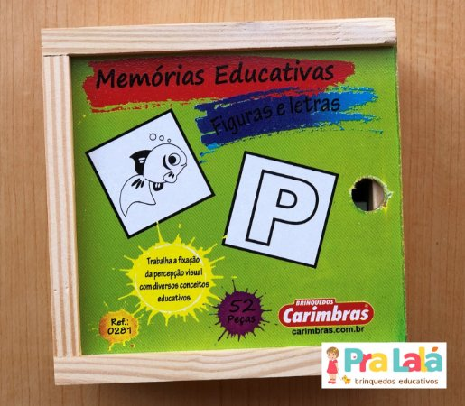 Jogo da Memória Figuras e Letras