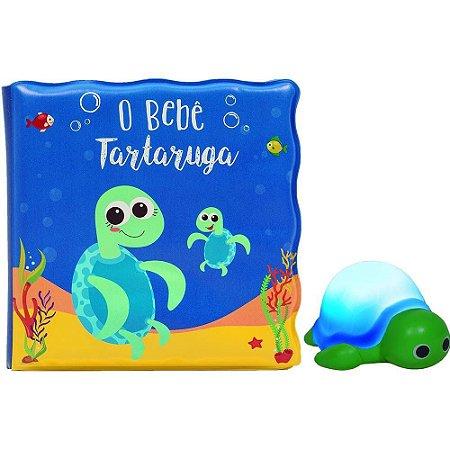 Kit Livrinho de Banho com Miniatura - O Bebê Tartaruga
